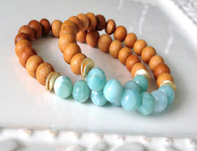 ST00681 Wood Bead Bracelet With Gemstone ,Yoga Bracelet Jewelry