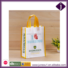 Personal Design White Ink Printing Foldable Shopping Tote Bag Non Woven Laminated Bags