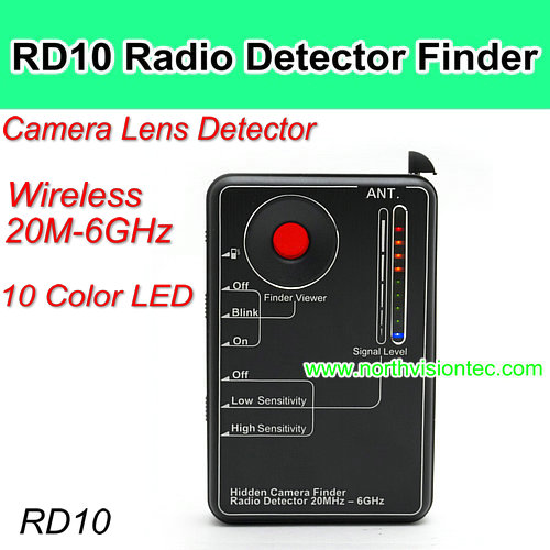 RD10 cell phone signal detector, wireless camera finder