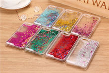Low price china mobile phone popular hard pc flowing glitter 3d liquid phone case for iphone 6 factory price
