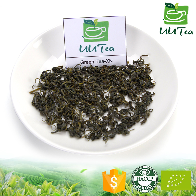 Chinese health organic tea with green tea leaves