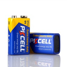 PKCELL Shrink Wrap Extra Heavy Duty 9Volt batteries 9v 006p Dry Power Carbon Zinc Battery 6F22