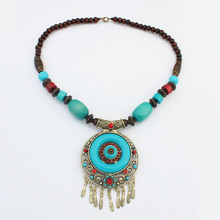 New Arrival Wooden beads National style Gemstone trendy necklace 2014