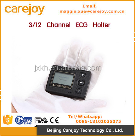 CE approved Profesional ECG Holter recorder System Holter Analysis Software cardiac diagnostic 24-72 hours recording time
