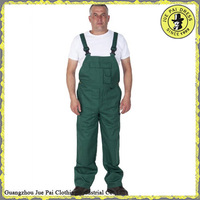 OEM Service Workwear green Overall Working Pants Bib Overalls