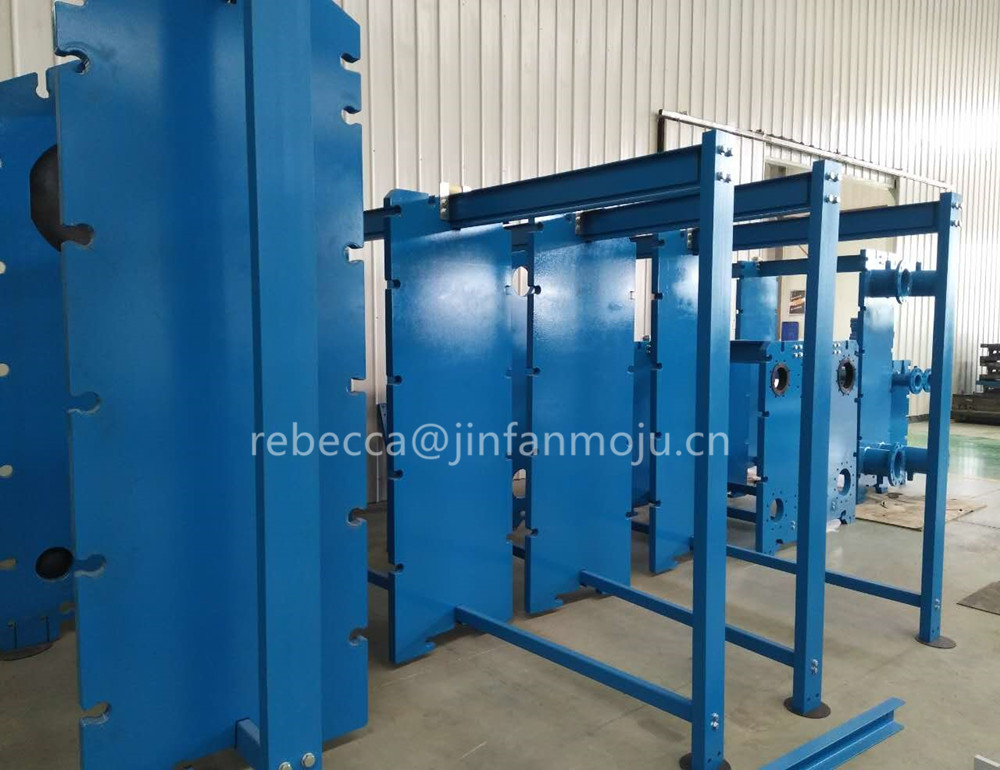 frame for gasketed and semi welded plate heat exchanger price