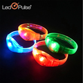 China factory supply colorful glow wrist band sound activated led bracelet wristband for party show