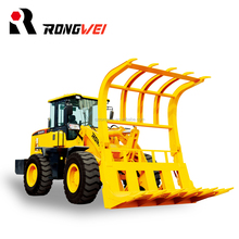 Rongwei brand heavy duty equipment 3 ton grass fork wheel loader for sale
