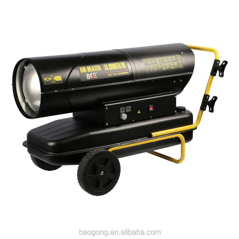 mobile air fuel heater industrial diesel / kerosene oil fan heater