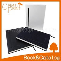 Case Bound Suede Cover A5 Blank Paper Notebook