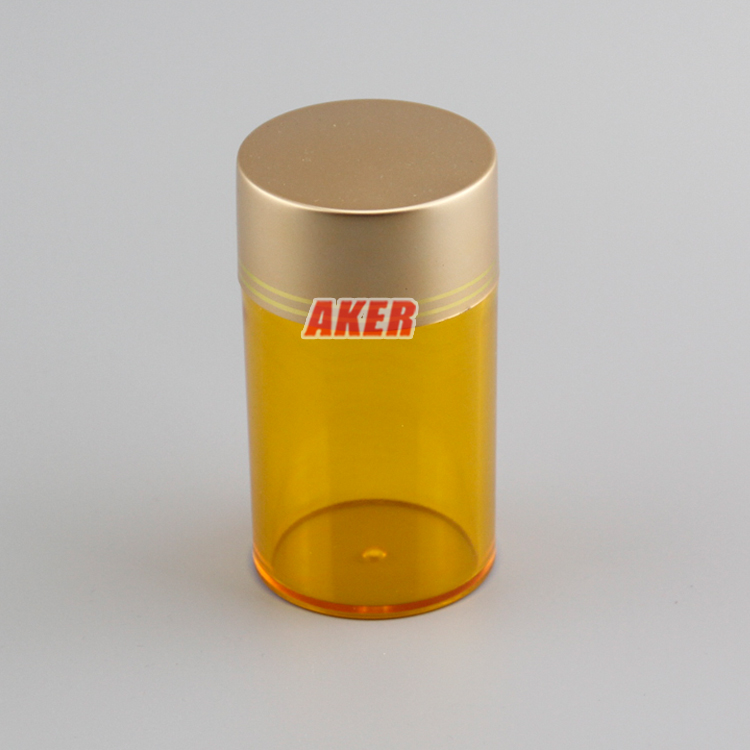 85ml 130ml Plastic Pill Packaging Plastic Jars Container With Electro Aluminum Lid Health Care Products Bottle