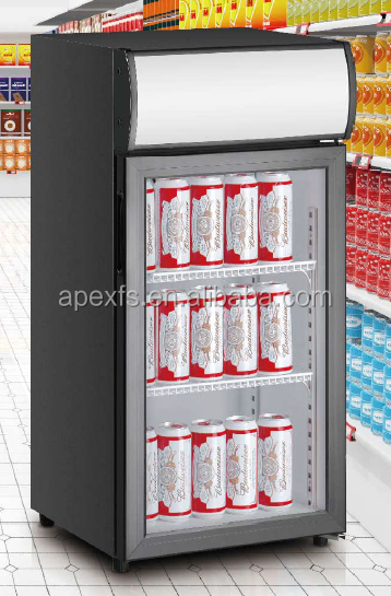 Factory directly sale table top display refrigerator commercial hotel cooler