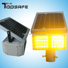Traffic security CE Yellow Solar Flashing LED Light