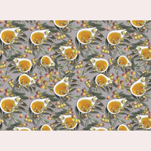 Fancy Buffet Table Cloths with Print Fruit Design Tablecloths Made of Light Fabric Weights Table Cloth of 120GSM