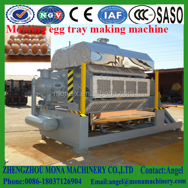 Big sale pulp moulding egg / fruit tray machine / high capacity recycling waste paper egg tray machine with CE approved