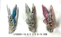 Pewter fairy different posture color glass wings custom miniature figures