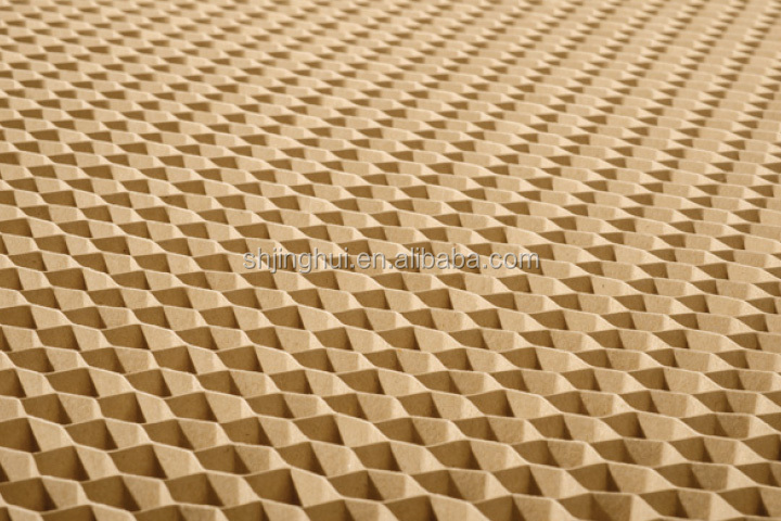 100% Kraft Paper honeycomb core Used inside doors and boards