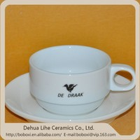 European white ceramic coffee cup and saucer Home afternoon tea cup set