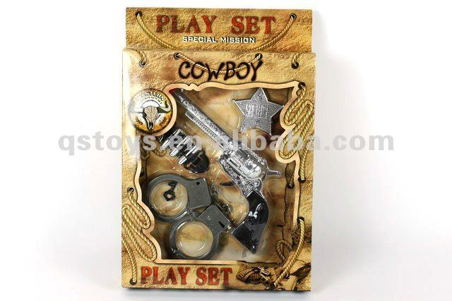 Funny Plastic Cowboy Toy for kids QS120908056