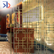 home hotel room divider rose gold color 316 stainless steel decorative screen partition