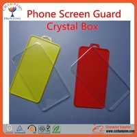 2016 New Tempered Glass Screen Protector/Guard Rigid Packaging Crystal Box