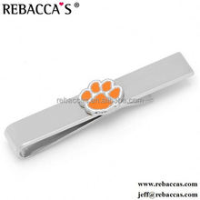Wholesale Cheap Custom Made High Quality Heat Transfer Logo Stainless Steel Bow Tie Clip