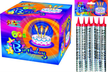 60seconds birthday candle smokeless and no smell fireworks(MK60)