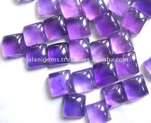 Natural Amethyst Square Cabochon Loose Stone