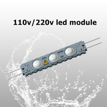 high quality 220v single color epoxy 2835 led module 20pcs/string outdoor