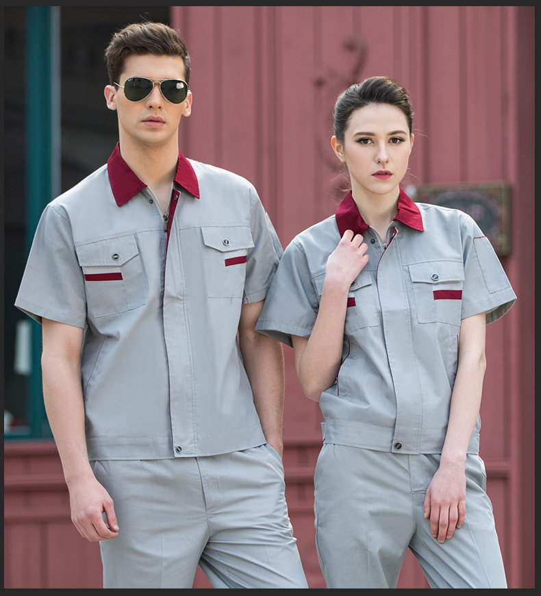 new high quality 100% cotton custom design short sleeve industrial factory worker uniform