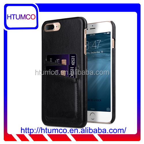"2016 Snap Cover Dual Card Slot Mobile Phone Case PU Leather Case for Apple iPhone 7 Plus(5.5"")"