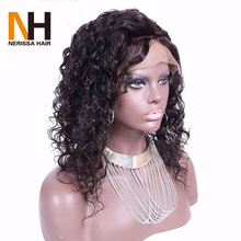 Natural Curly Malaysian Virgin Remy Human Hair Pre Plucked Hair Line Full Lace Wig with Baby Hair