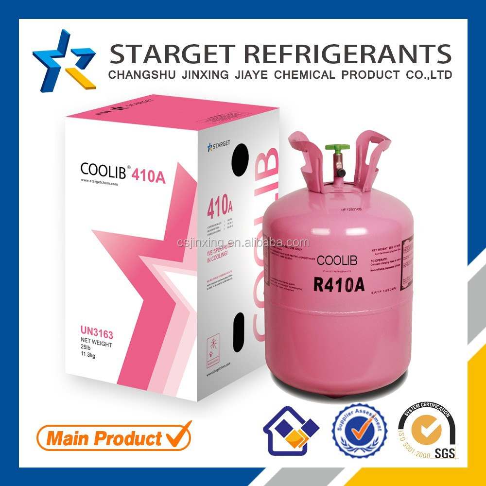 HFC R410A Refrigerant Gas Wholesale (Substitute R-22 Refrigerant) in Jiangsu of China