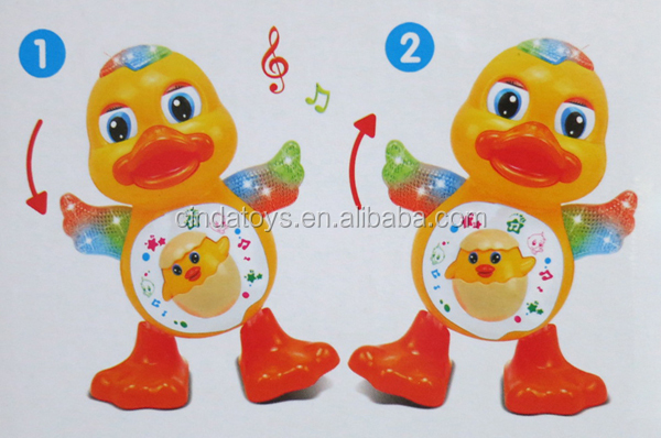 2017 plastic kids toys Electric toys ,Interesting blink eyes dancing duck kids toys ,plastic toys for kids
