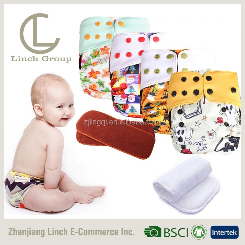 LC TD-027 New Born Colorful Baby Resuable Leak Guard Custom Adjustable Snaps Cloth diaper