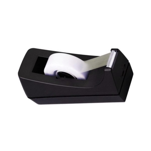 Desk Tape Dispenser, 1in. Core, Black