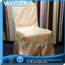 twill high quality organza armchair cover with pockets