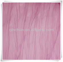 100 polyester crushed organza sheer curtain fabric for curtains, home textile, decoration, upholstery