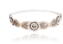 High Quality Handmade Stretch Rhinestone Crystal Beaded Headband/Wedding Hair Accessories/Bridal