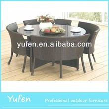 outdoor rattan dining table set YF1248