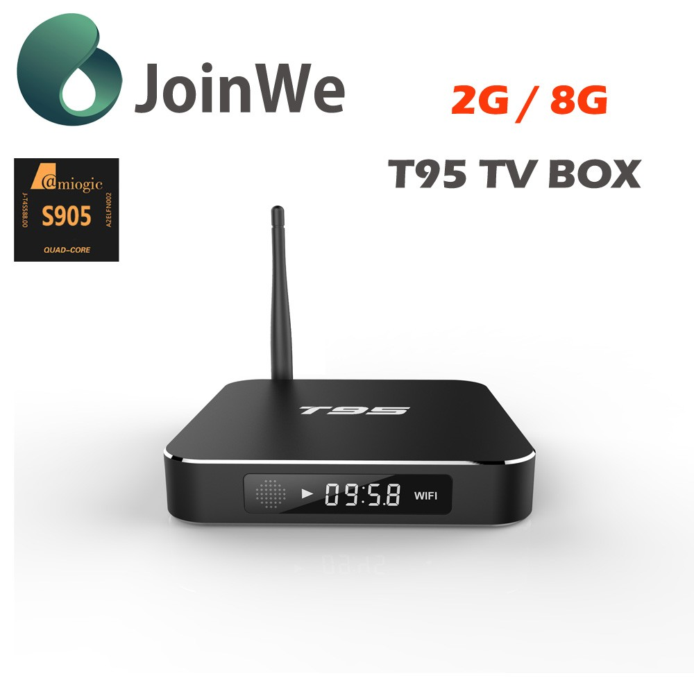 2017 hot sell android tv box 2gb octa core T95 marshmallow tv box metal case tv satellite wireless receiver