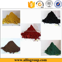 Red/yellow/black/brown/orange/blue iron oxide pigment for concrete