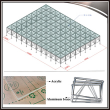 Acrylic transparent dance floor aluminum glass wedding stage