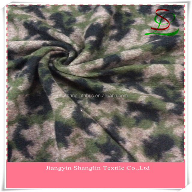 Jacquard Camouflage wool fabric for winter coats