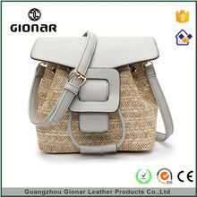 Wholesale Korea Cheap Online Latest Pretty Girls Straw Blue Elegance Handbags