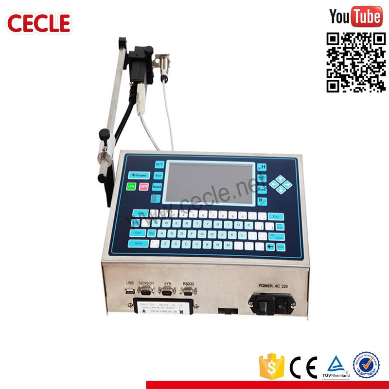 Stainless steel continue ink jet date code printer