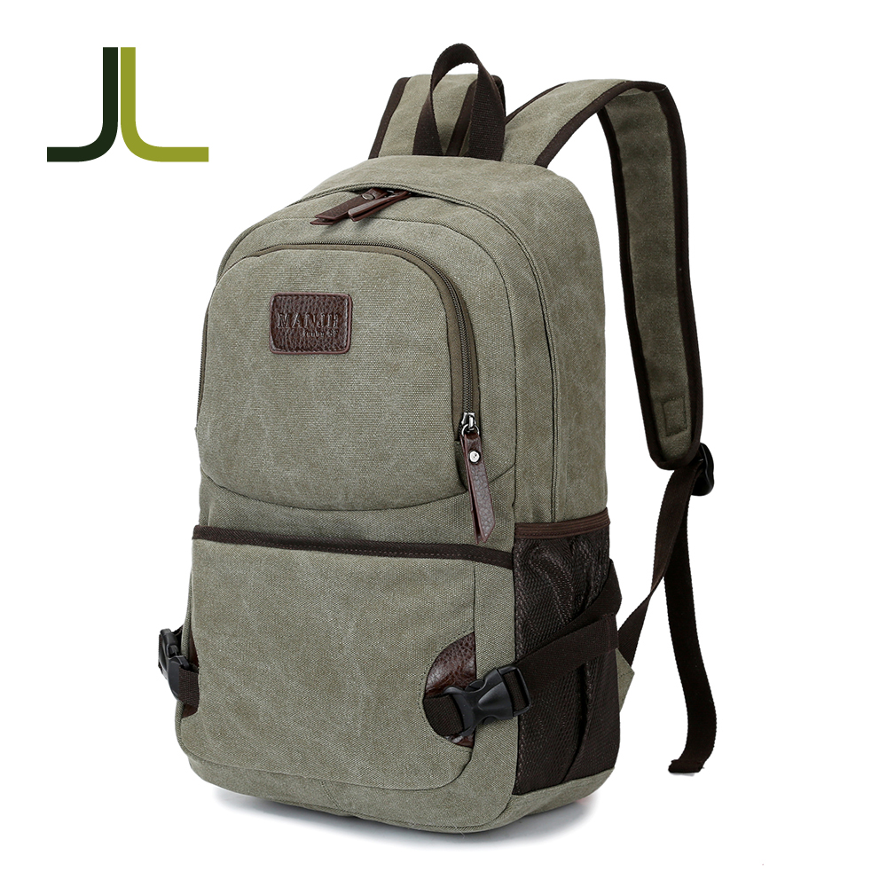 Free Shipping canvas vintage men boy backpack bags retro durable <strong>school</strong> back pack bag for students