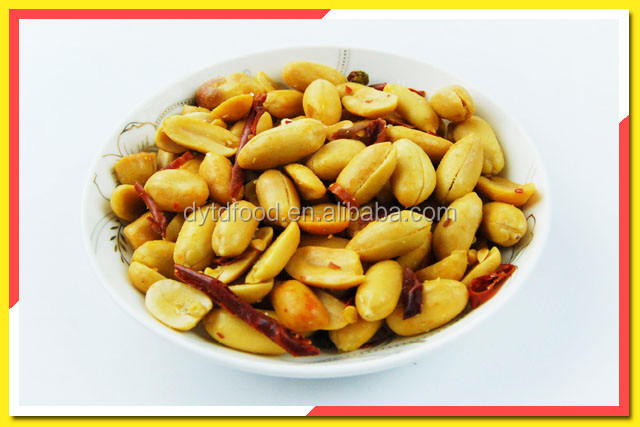 cheap snack fried spicy sweet chilli flavoured peanuts
