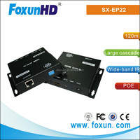 FOXUN SX-EP22 RJ45 Ethernet Extender Transmit HDMI Signal 1080p Up to 120m W/IR DIP and POE Switch