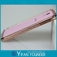 Rosegold metal frame bumper for Samsung note 3 diamond shell